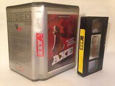 AXE PRE CERT V.R.O BIG BOX EX RENTAL VIDEO NASTY DPP 39 ART OF THE NASTY VHS PAL