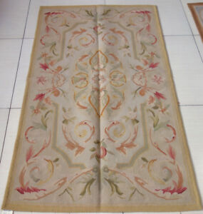 FPASTEL ANTIQUE LIGHT Color Aubusson Area Rug French Shabby Chic Floor Carpet #3