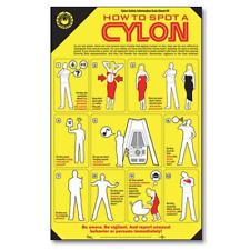 BATTLESTAR GALACTICA BSG HOW TO SPOT A CYLON POSTER 2008 QUANTUM MECHANIX NEW!