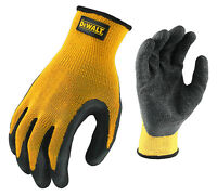 DeWalt DPG70 Textured Rubber Coated Gripper Work Gloves You Pick The Size