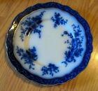 Touraine Flow Blue Plate Alcock Staffordshire Transferware
