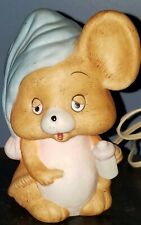 Vintage Josef Originals Sleepy Eyes Ceramic Baby Mouse Electric Night Light Euc