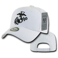 White United States US Marines Corps USMC Marine Cotton Baseball Ball Cap Hat