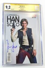 Star Wars Han Solo #1 Photo Cover CGC 9.2 SS Signature Signed Harrison Ford