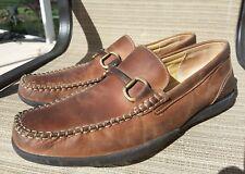 Brass Boot Mens Walking Gloves Horse Bit Loafer Driving Moccasins Shoes Sz 12M