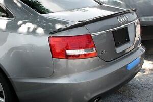 Carbon Audi A6 C6 Trunk Deck Lip Spoiler ABT Type Sedan Saloon 2004-2008