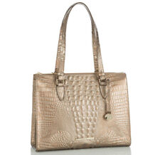 NWT BRAHMIN Anywhere Tote Melbourne Croc-Embossed Leather Shoulder Bag Rose Gold