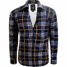 Mens Sherpa Fleece Lined Fleece Thick Shirt Lumberjack Work Jacket Check Warm