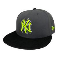 New York Yankees New Era 9FIFTY Gray Neon Green Snapback Baseball Hat Cap