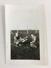 Vintage BW Real Photo #AS: Model Plane : RAF Base? Airport? 2 of 2