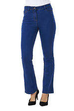 Ladies Blue Bootcut Denim Womens Pants Stretch Boot Leg Flare Jeans