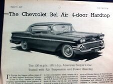 CHEVROLET BEL AIR 4-Door Hardtop - 1958 - Road Test removed from The Motor