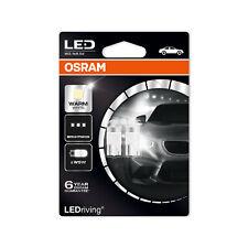 2x Genuine Osram LED W5W (501) 1w 12v Warm White 4000K Bulbs [2850WW-02B]