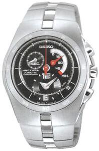 Seiko Arctura Kinetic Men Chronograph Steel Watch SNL003 SNL003P1