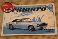 1967 67 Chevy Chevrolet Camaro Owners Manual