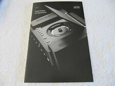 Mark Levinson 2001 Product Portfolio and Specifications  20 pages
