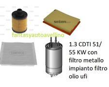 Kit 4  Filtri Tagliando  OPEL MERIVA 1.3 CDTI 51/ 55 KW con filtro metallo