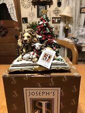 JOSEPH'S STUDIO LION AND THE LAMB UNDER CHRISTMAS TREE DECORATION w/ BOX