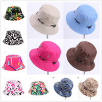 2019 Women's Floral Hat Wide Brim Summer Beach Boho Sun Protection Print Sunhat