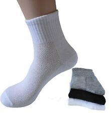 1Pair White Black Grey Gym Socks Thermal Soft Cotton Casual Sport Sock For Men