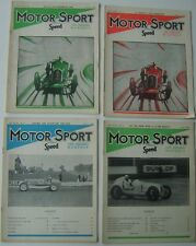 Motor Sport 1942 Vol. XVIII Complete Year 12 issues good condition with covers