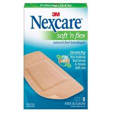 2 Pack - Nexcare Comfort Fabric Bandages Knee and Elbow 8 Each