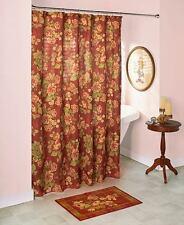 Devon Rose Victorian Shower Curtain Hooks Rug Vintage Floral Victorian Bath Set