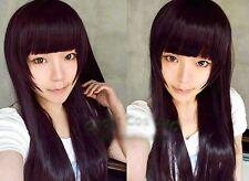 Inu x Boku SS Shirakiin Ririchiyo Cosplay 100cm black/purple Wig  AE20