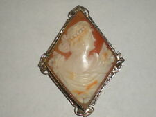 14k gold cameo brooch or pendant