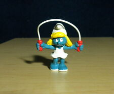 Smurfs Jump Rope Smurfette 1983 Vintage Smurf Figure Peyo PVC Toy Figurine 20168