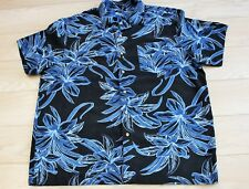 Homme Vintage Hawaiian Rockabilly Noir Floral Surf Aloha Rétro Stag Ugly 2XL shirt