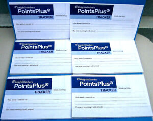 6 NEW Weight Watchers Points Plus Trackers Food Journals Tracking Weekly Points