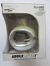 White AppleByte2 Plug & Play Mini Sized Loudspeaker Mega Speaker for Blackberry