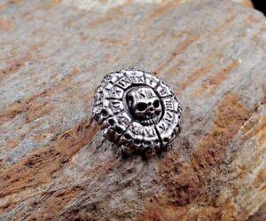 3.2X3.2CM 10pcs Antique Silver Roman NO. Skull Conchos Rivet Stud Leather Wallet