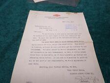 1916 Old Document, Diamond State Fibre Co. Bridgeport PA, Autograph J.M. Tager