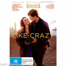 Like Crazy DVD BEAUTIFUL LOVE STORY BEST ROMANCE BEST MUSIC BRAND NEW R4