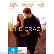 Like Crazy DVD BEAUTIFUL LOVE STORY BEST ROMANCE BEST MUSIC BRAND NEW R4