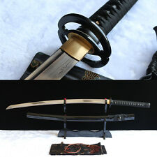 hand forged damascus steel japanese samurai real sword katana sharp blade.