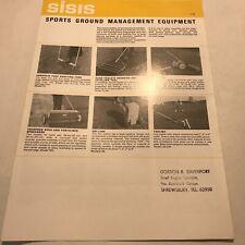 SISIS Sports Ground Management Equipment Original 1970s Brochure