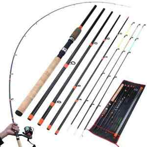 9.8ft Feeder Fishing Rod With 3 Tips 6 Sections Carbon Fiber Travel Rod Fishing