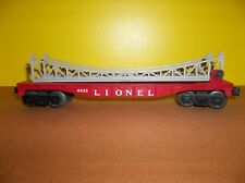 LIONEL POST WAR FLAT CAR WITH ARCH TRESTLE BRIDGE. # 6825
