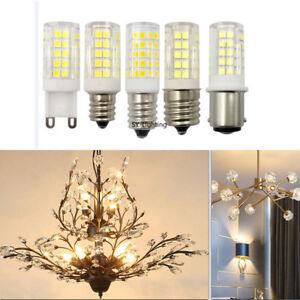 1~10x 6W G9 E12 E14 E17 BA15D LED Light bulb 64-2835SMD Ceramic Lamp White/Warm