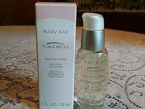 Mary Kay Time Wise Night Solution 1oz Facial Gel, Dry to Oily Skin, Discontinued
