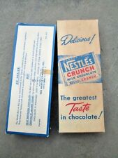 NESTLE'S CRUNCH 1950s milk chocolate candy bar store display/dealer complet box