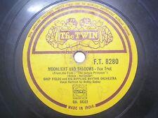 "JOHNNY HAMP & HIS ORCHESTRA F T 8280 INDIA INDIAN RARE 78 RPM RECORD 10"" VG+"