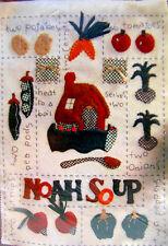 NEW 1996 BUCILLA Patchwork EASY Applique FELT KIT 41403 Noah's Ark Soup Recipe