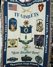 Operation Iraq Freedom Blanket Fort Lewis Washington 37x51 inches home decor