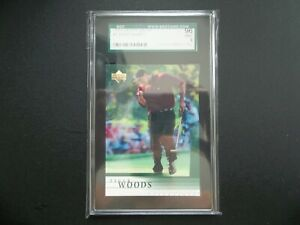 Tiger Woods RC 2001 Upper Deck Golf ROOKIE CARD #1 SGC GRADED 9 MINT 96 Pointing