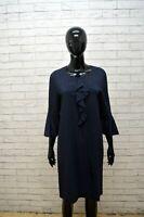 LIU JO Tubino a Righe Vestito Blu Donna Taglia 46 Abito Casacca Women's Dress