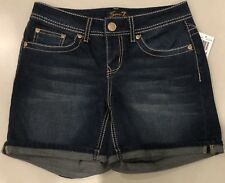 NWT 7 For All Mankind Women's Blue Jean Short Size 4 $49 EPBR